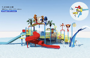 66x42x22 Commercial Splash Pad Water Park Slide Pool Inflatable Game Playground