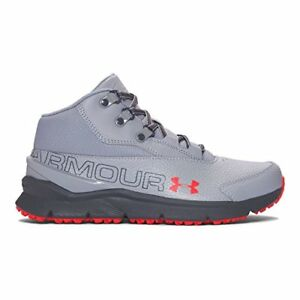 Under Armour Grade School UA Overdrive Mid Tumbled Leather 5.5 Steel