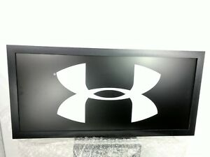 Under armour display sign larg sport department store light up sign 4 ft by 2ft