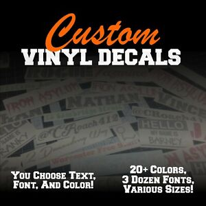 Custom Vinyl Lettering Decal Personalized Sticker Window Text Name Car Wall $9.00