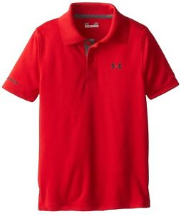 Under Armour Boys 2- Little Ua Logo Short Sleeve Polo- Pick SZColor.