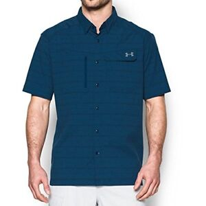 Under Armour Outdoors Mens Fish Hunter Plaid Short Sleeve- Pick SZColor.