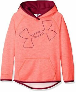 Under Armour Girls Armour Fleece Novelty Jumbo Logo Hoodie Pink ChromaBlack Ch