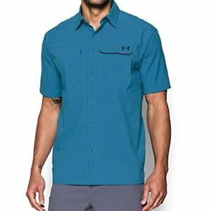 Under Armour Outdoors Mens Fish Hunter Solid Short Sleeve- Pick SZColor.