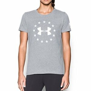 Under Armour Apparel Womens Freedom Logo Short Sleeve- Pick SZColor.