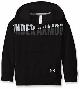 Under Armour Girls Favorite Fleece Hoodie BlackWhite Youth Small