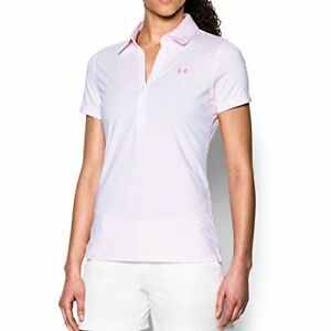 Under Armour Apparel Womens Zinger Stripe Short Sleeve Polo- Pick SZColor.