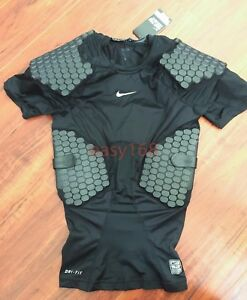 New Nike Pro Combat Sz Large Hyperstong Compression Football Mens Black Mens
