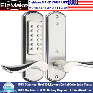 Keyless Door Lock Mechanical Combination Digital Code Entry Keypad Handle Door