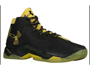 Under Armour UA Curry 2.5 Basketball Shoes Youth Boys Size 5.5Y Black Yellow