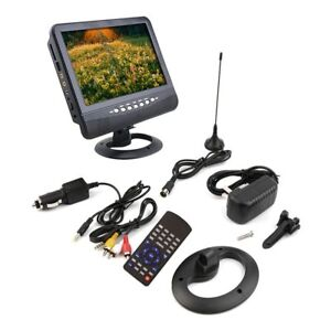 New Cheap 7 inch Portable LCD Analog TV FM MP3 USB Slot Car TV SM