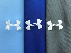 Lot of 3 Under Armour Loose Heat Gear Golf Polo Shirts Size Large Blue Gray