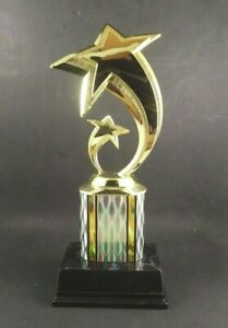 Gold Star Trophy 11quot; . Free Engraving.