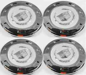 4pcs. 2007 2015 CADILLAC ESCALADE PLAIN CREST 22 WHEEL CENTER CAP 9596649