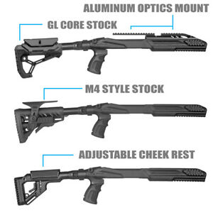 FAB Defense Ruger 1022 Tactical Stocks w Cheek Rest