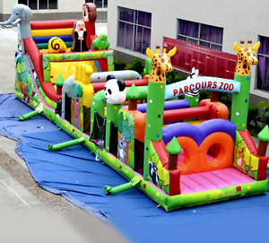 60x30x25 Commercial Inflatable Water Slide Obstacle Course Bounce We Finance