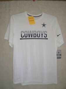 NWTS Nike Dallas Cowboys Team Practice Off White Dri Fit Shirt