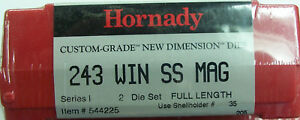 Hornady Custom Grade New Dimension 2-Die Set 243 WSSM 544225
