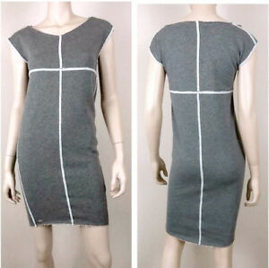 Lacoste Women's Gray Shimmer Sleavless Sweater Dress Sz: 10 (42) - New with tags