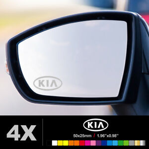 Compatible KIA WING MIRROR ETCHED GLASS CAR VINYL DECALS STICKERS SILVER ETCH