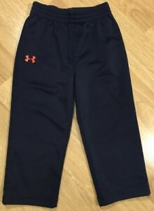 Under Armour Pants Baby Toddler Boys Size 24 Months Navy Blue And Orange