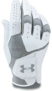 Under Armour UA CoolSwitch Golf Glove WhiteSteel Left Hand 2018 - 3 Pack