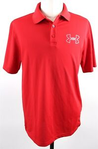 NEW Under Armour Heatgear Coldblack Golf SS Polo Shirt MENS LARGE Red