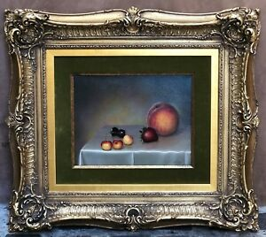 MAGNIFICENT OC STILL LIFE FRUIT PAINTING BY TEIMOUR AMIRY CALIFORNIA ARTIST