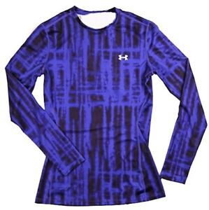 Under Armour Womens UA ColdGear Printed Fitted Long Sleeve Shirt (S