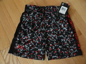 Under Armour Boys Shorts Black Elastic Waist Athletic Baby Toddler 2T 3T NWT