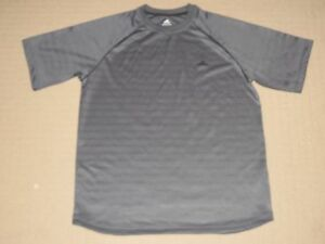 Mens Adidas ATS Dry Athletic Running Fitness Gym Short Sleeve SS Shirt XL Gray