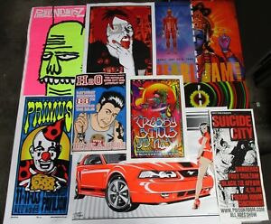 Vintage Rock & Roll Concert Poster  Wholesale Lot of 5000pcs LE Signed Numbered