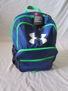 UNDER ARMOUR HOF YOUTH BACKPACK SCHOOL TRAVEL BLUE BLACK GREEN 125665 NEW