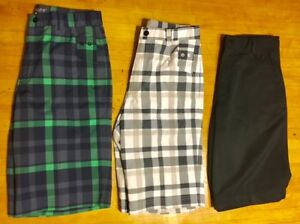 Lot of 3 NIKE Dri-Fit Golf Shorts BlueGreenWhiteGrayBlack Athletic Boys Sz L