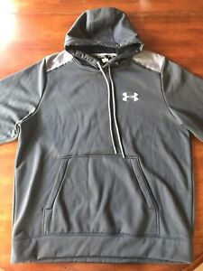 Under Armour STORM Pullover Jacket Athletic Hoodie Men's XL Gray Excellent!