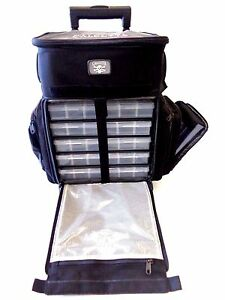 Calcutta Rolling Tackle Bag Box CT3010WC Sport Fishing Travel Bag w 5 Trays MED