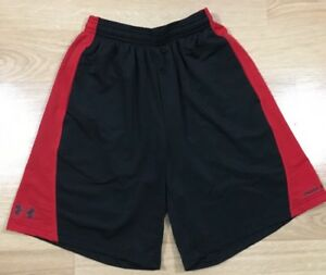 Boys Under Armour Shorts Youth Small Red And Black $16.99