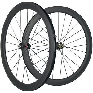 50mm Carbon Fiber Wheelset Tubeless Road Bike Wheels 25 Width 3K Matte 271hub $369.00