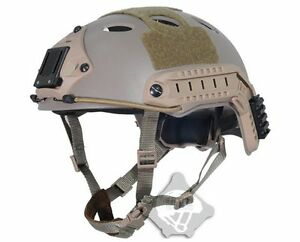 (Light Weight) FMA FAST Tactical Helmet PJ Type DE For Airsoft Paintball TB819