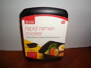 Rapid Ramen Cooker Microwave in 3 Minutes Black As Seen On TV Brand New $11.90