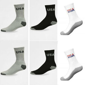 5~100 Dozen Men Women Wholesale Lots Crew Socks Sports Cotton Logo USA Gift Xmas