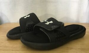 Under Armour Sandals Youth Size 1Y Black And White $15.99