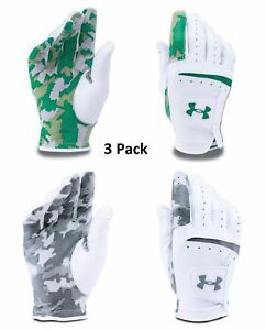 Under Armour UA Strikeskin Camo Golf Glove 3 Pack-Left Hand- Choose Size