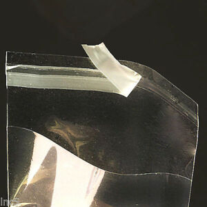 100 CRYSTAL CLEAR SELF SEALING RECLOSABLE CELLO BAGS 2 to 5