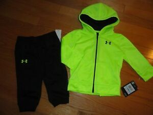 Under Armour Baby Boys Outfit Set Pants Hoodie Sweatshirt 6M - 9M Toddler NWT