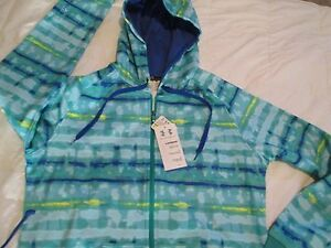 BRAND NEW Womens UNDER ARMOUR TIE DYE GrnBlue Zip-up Hoodie MD FREE SHIPPING!