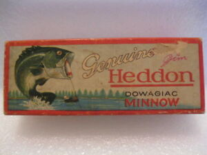 Vintage Empty Heddon Zaragossa box 6509L-3H     for lure or minnow