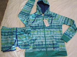 BRAND NEW Womens UNDER ARMOUR 2pc OUTFIT Hoodie+Shorts Tie-dye Lg FREE SHIPPING!