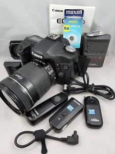 Canon EOS 50D 15.1MP Digital SLR Camera w 18-135mm Lens and Extras