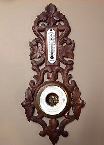 Antique French barometer Black Forest style